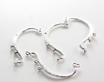 4pcs Oxidized Silver Tone Base Metal Links-30x13mm (4649Z-H-242)