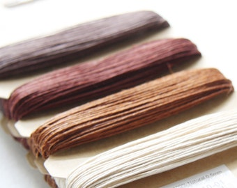 1 Package of Shades of Bronze Hemp -  4 colors of  41.9 feet -  0.5mm -10lb (101001)