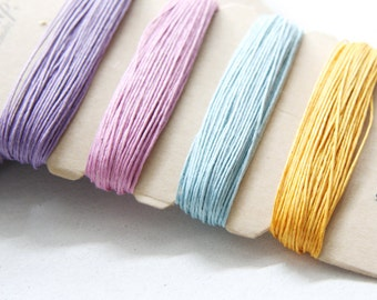 1 Package of Pastel Colors Hemp -  4 colors of  41.9 feet -  0.5mm -10lb (101004)