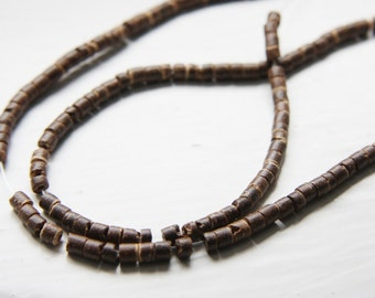16 Inch Full Strand Coconut Wheels Beads  - Disc - 3mm Brown