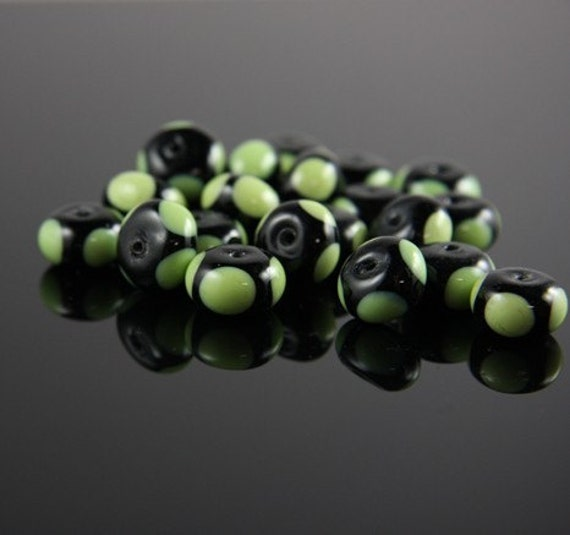 8pcs limited edition lampworked glass beads-Rondelle 13x8mm (24Z-1)