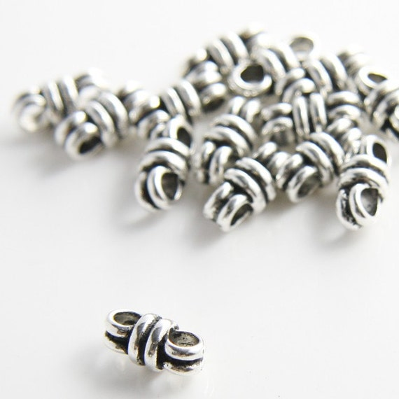 20pcs Oxidized Silver Tone Base Metal Fancy Links-13x6mm (9435Y-C-183A)