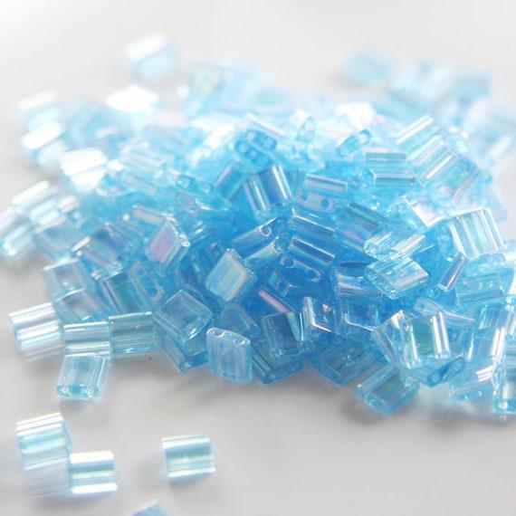 10 Grams Japanese Miyuki Tila Beads-Aquamarine Transparent AB (TL0260)