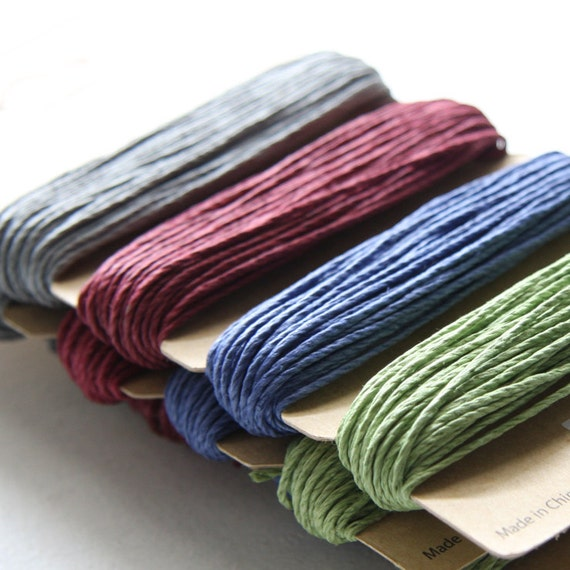1 Package of Earthy Pastel Color Hemp -  4 colors of  29.9 feet -  1mm -20lb (101105)