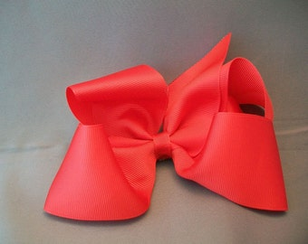 BIG Red Hairbow with No Slip Grip