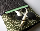 IPHONE POUCH with POCKET 3G or 4 - Olive - padded, ipod, itouch, camera, travel