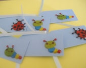 Cute Creepy Crawlies Set of Six Little Bugs Tags
