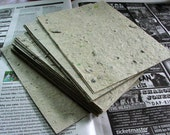 Handmade Paper Created from Recycled Newspaper (6 sheets)