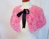 SALE Fluffy Pink Shoulderette