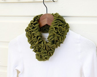 Ruffle Neck Cozy - PDF Knitting pattern