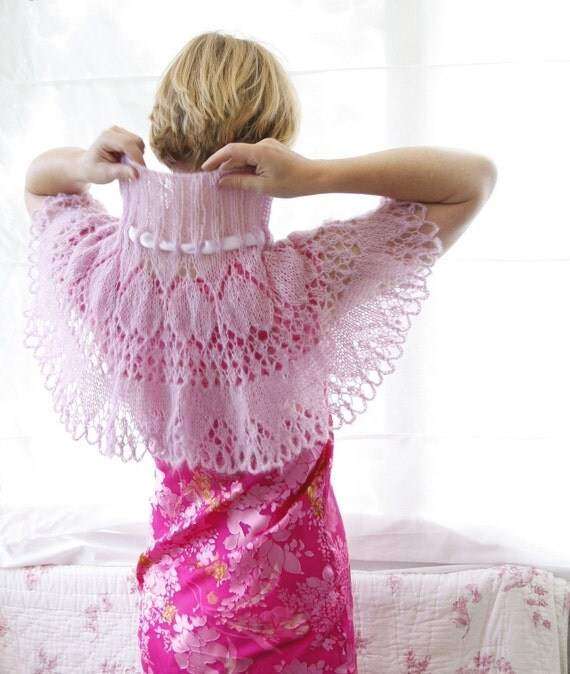 Lacy Capelet Victoria -  PDF knitting pattern