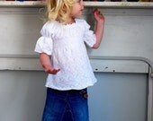Picture Perfect White Heirloom Peasant Top 12 months 2T 3T 4T