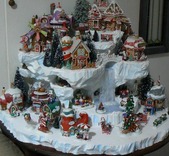 Custom miniature Christmas village display platform-FREE SHIPPING SALE