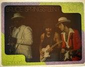 Vintage BRUCE SPRINGSTEEN Live In Concert Iron On Transfer