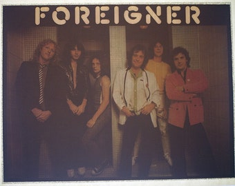Vintage FOREIGNER music band Iron On Transfer