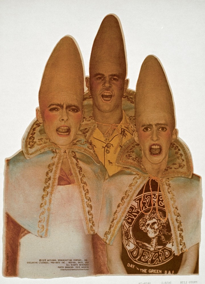 Coneheads Saturday Night Live Snl Vintage Iron On Transfer