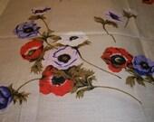 SALE-Vintage Linens Tablecloth