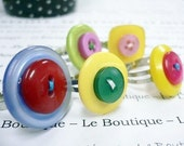 Friendship Button Adjustable Rings