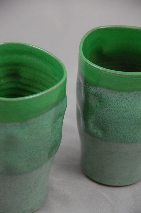 Bright Green Tumblers for Two