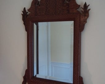 Handcrafted Lacewood Chippendale Mirror