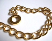 Gold Plate Toggle Clasp  BRACELET Chain RESERVED FOR hantucollective