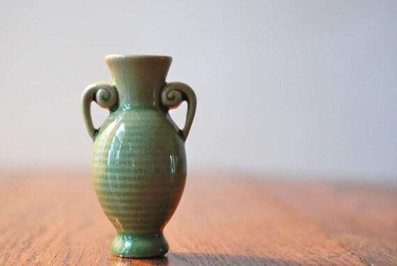 Vintage Green Bud Vase
