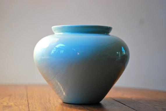 Vintage Haeger Turquoise Vase Pottery