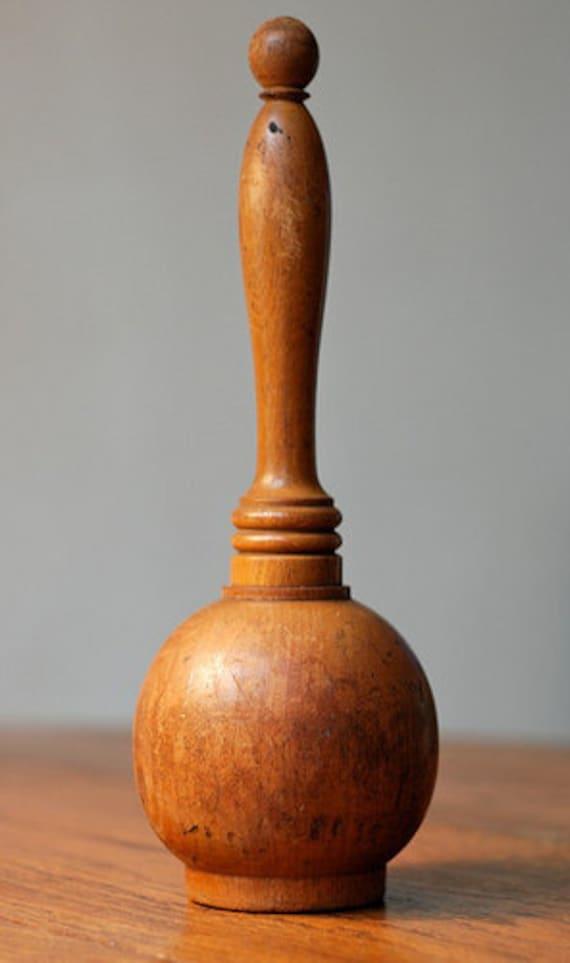 Vintage Solid Walnut Hammer Wood Accent