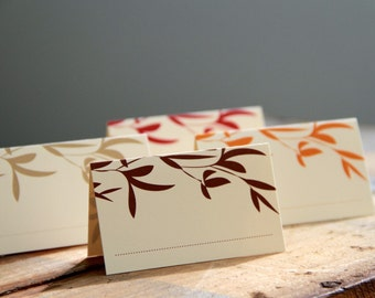 autumn leaves // place cards // set of 12
