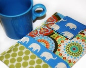 Kindle 1,2, 3, Nook, Nook Color, Kobo, Sony Ereader and Digital Books Techee Gadget Sleeve - in Blue Elephant Walk