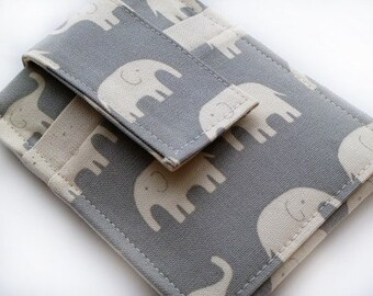 iPod - iTouch - iPhone - PDA - Camera - Cell Phone Sleeve - Case - Holder - Card Holder - Elephant
