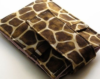 iPod - iTouch - iPhone 5 - PDA - Camera - Cell Phone Sleeve - Case - Holder - Card Holder - Giraffe Animal Print
