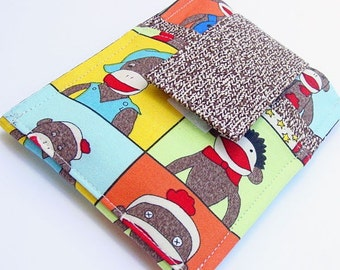 iPod - iTouch - iPhone - PDA - Camera - Cell Phone Sleeve - Case - Holder - Card Holder - Sock Monkey