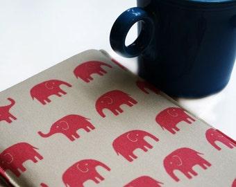 Kindle - Digital - Nook Color - EReader Sleeve Cover Case - Pink Elephants- Kobe - Sony - Tech Geekery Gadget Sleeve