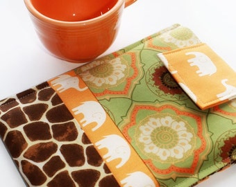 Nook Sleeve, Kindle Sleeve, Kindle Case, Kindle Cover, Nook Cover, Nook Case, Sony, Kobo,  Ereader Sleeve, Ereader Case in Jungle Safari