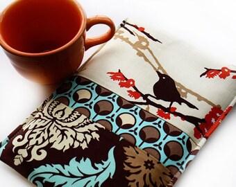 Kindle - Digital - Nook - Sony - Kobo-  EReader Sleeve Cover Case - Patchwork Sparrows - Tech Gadget Geekery Sleeve