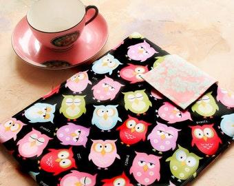 Ipad case, ipad cover , ipad sleeve, ipad 2 case, ipad 2 sleeve, Tablet Case, tablet cover, Techee Gadget Sleeve-  in Night Time Hoot Owl