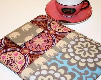ipad case,Purple and Blue ipad air case, ipad mini sleeve, ipad pro case, ipad sleeve, Kindle Fire Tablet Case in Elephant Parade Jewels