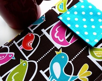 Kindle Sleeve, Kindle Case, Nook Sleeve, Nook Case, Assorted Ereaders Techee Gadgets in Tweet Tweet BIrds