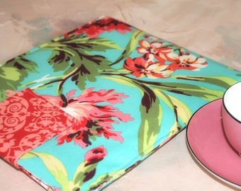 Kindle Sleeve, Kindle Case, Nook Color, Kindle Paperwhite, Floral Kindle Case, Kindle Fire Case, Kindle Fire Sleeve in Promenade
