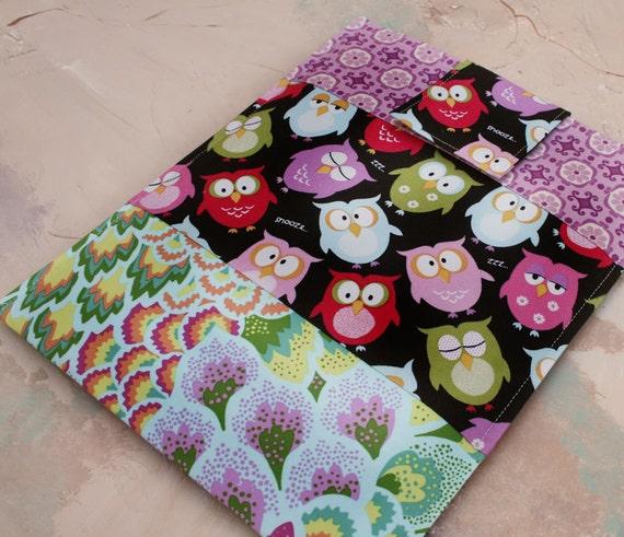 Ipad case, iPad cover, iPad sleeve, iPad and iPad  2, Galaxy, Tablet Sleeve - Cover - Cozy - Night Time Owl Remix