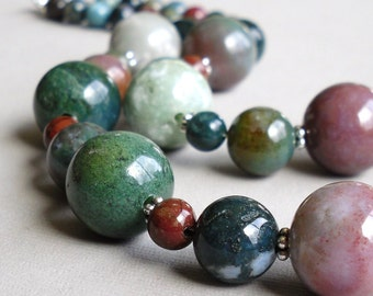 Colorful Fancy Agate Fancy Jasper - Serendipity Handmade Necklace