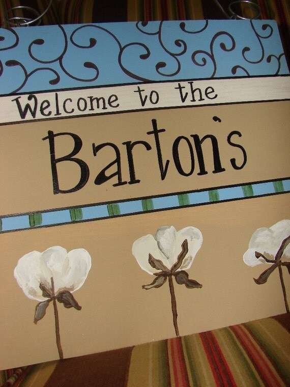 Personalized Welcome Sign for Front Door Custom Orders