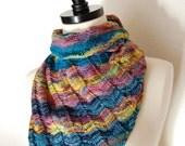 Knitting Pattern PDF / Asymmetrical Triangle Shawl