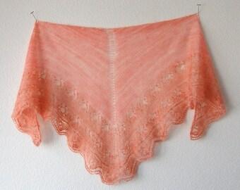 Knitting Pattern PDF / Simple Triangle Shawl