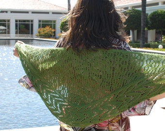 PDF Knitting Pattern / Wild Lettuce One Skein Shawl Knitting Pattern