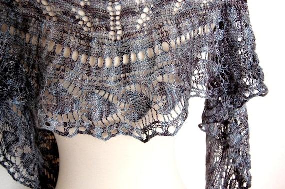 PDF Knitting Pattern / Flyleaf One Skein Lace Triangular Shawl
