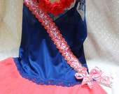 SUPER SALE ------- Bring On The Red White and Blue - Vintage Cami Make Over