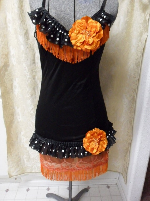Halloween 1926 Flapper - Vintage Slip Make Over