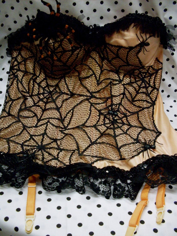 Last Years Inventory - Spider Web Queen - Vintage Bustier Make Over